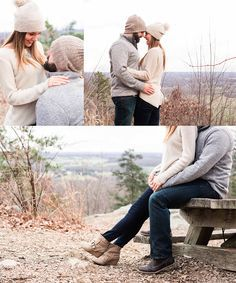 Ashley & Brian / Sugarloaf Mountain, Maryland / Winter Engagement Photos in Late January