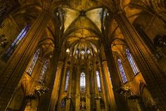 Cathedral of the Holy Cross and Saint Eulalia (aka Barcelona Cathedral) Barcelona Catalonia Spain  www.alamy.com/image-details-popup.asp?ARef=FY3FPY marketplace.500px.com/photos/151472071 #church #architecture #gothic #holy #catholic #saint #arch #interior #tourism #travel #history #religion #old #christian #cross #culture #god #decoration #historic #jesus #europe #heritage #medieval #beautiful #historical #cathedral #spain #barcelona #catalonia #eulalia