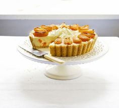 White chocolate & apricot cheesecake. A stunning centrepiece for any celebration or the perfect end to a Sunday lunch