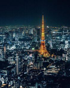 "everything-thing: "" 東京タワー Tokyo Tower by Victorio Nakata "" Tokyo Night, Tokyo City, Tokyo Tower, Antoni Gaudi, Moving To Paris, City Wallpaper, Nikon Photography, Yokohama, City Lights"