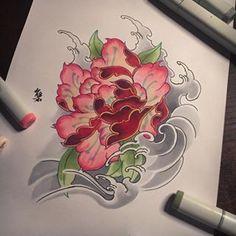 Some Peony Sketch Prepare for a calf piece Japanese Peony Tattoo, Japanese Tattoo Designs, Asian Tattoos, Trendy Tattoos, Tattoo Oriental, Peonies Tattoo, Infinity Tattoos, Tattoo Illustration, Lotus Tattoo