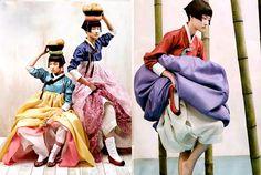 Hanbok - cute in korea  Vogue Korea.(May 2009) Photography by Kim Kyung Soo