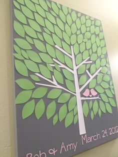 DIY tree guest book, autograph canvas. perfect for weddings, graduations, baby showers, ect.  @Renee Benore
