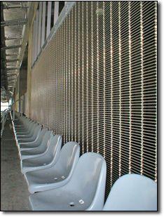 Gladstone PC 100/10 architectural mesh installed as façade cladding  at Braga Stadium, Braga, Portugal. Braga Portugal, Security Screen, Gladstone, Wire Mesh, Radiators, Screens, Home Appliances, Architecture, Projects