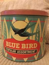 . Tin Man, Tea Tins, Vintage Tins, Canisters, Coffee Cans, Blue Bird, Bobs, Jar, Buttons