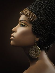 Queen Nefertiti... with a braided crown.