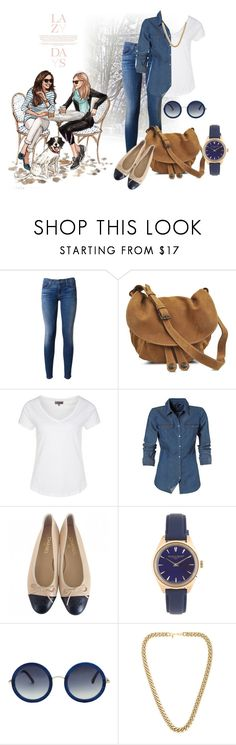 """""""chilling with my bff"""" by kitty1255 ❤ liked on Polyvore featuring Lazy Days, Hudson, Gérard Darel, Zalando, Chanel, J.Crew, The Row and Kenneth Jay Lane"""