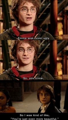 ṢAME! I was always skeptical of those people who thought that Emma was 'ugly' or 'dowdy' from the first movie because she was never bad looking! So in the fourth movie, I guess it was only to signify to Ron that Hermione was actually somewhat pretty, because he's an oblivious idiot, obviously.