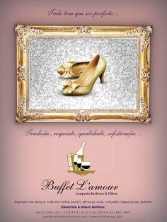 Arte desenvolvida para o Buffet Lamour para veículação na revista inesquecível Festa 15 Anos.  Arte: Jones Rodrigues  Cliente: Buffet Lamour  Agência: 3R Studio Comunicação  Ano: 2010