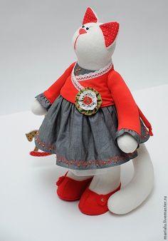 Teddy Cat / Кошечка с лошадкой - белый, подарок девушке, подарок женщине, подарок на новый год, подарок подруге