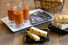 A Different Kind of Trick or Treat: Bloody Tomato Soup and Focaccia Fingers for Halloween