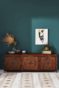 Tanja Media Console | Anthropologie Unique Living Room Furniture, Furniture Making, Furniture Decor, Bedroom Furniture, Gothic Furniture, Furniture Sale, Painted Furniture, Moroccan Print, Modern Moroccan