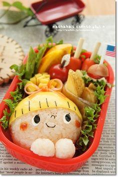 おばけちゃんとかぼちゃのおにぎり!の画像   naohaha's obento*