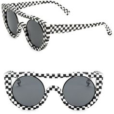 Oliver Peoples Oliver Peoples x Alain Mikli Checkerboard Aviator... (6.260.800 IDR) ❤ liked on Polyvore featuring accessories, eyewear, sunglasses, oliver peoples sunglasses, oliver peoples aviators, uv protection sunglasses, oliver peoples glasses and aviator glasses