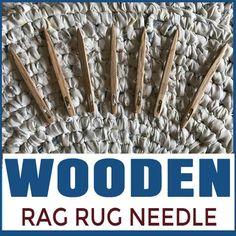 Wooden Rag Rug Needle
