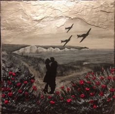 'Till We Meet Again' by Jacqueline Hurley, Remembrance Artist of The War Poppy Collection Hawker Hurricanes over the white cliffs of Dover. Battle of Britain Original painting War Tattoo, Armor Tattoo, Norse Tattoo, Viking Tattoos, Tattoo Ink, Remembrance Day Poppy, Remembrance Day Pictures, Remembrance Poems, Soldier Tattoo