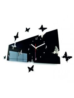 Modern Butterflies Black Large Diy Wall Clock Home Decor Living Room Bedroom Living Room Bedroom, Living Room Decor, Jobs In Islamabad, Dog House For Sale, Computer Jobs, Mirror Wall Clock, Latest Jobs In Pakistan, Puppy House, Army Jobs