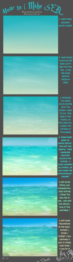 How to i make Sea ^^ by Caphricorn.deviantart.com on @DeviantArt