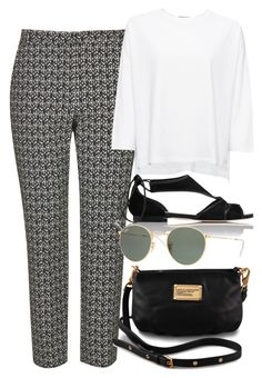 """""""Untitled #3039"""" by rachellouisewilliamson ❤ liked on Polyvore featuring Topshop, Whistles, L.K.Bennett, Marc by Marc Jacobs and Ray-Ban"""