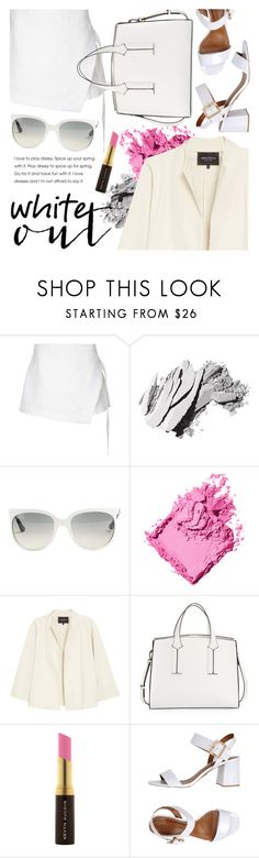"""White Out"" by ivansyd ❤ liked on Polyvore featuring Dion Lee, Bobbi Brown Cosmetics, Ray-Ban, Lafayette 148 New York, French Connection, Kevyn Aucoin, Carrano and allwhite"