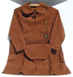 Early Girl Scout Brownie Uniform with Pin and Pixie Hat C 1927 1935 | eBay