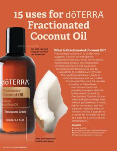 Use Coconut Oil Health - 15 Uses for Fractionated Coconut Oil – doYOUmamma - 9 Reasons to Use Coconut Oil Daily Coconut Oil Will Set You Free — and Improve Your Health!Coconut Oil Fuels Your Metabolism! Coconut Oil Uses For Skin, Best Coconut Oil, Coconut Oil For Dogs, Benefits Of Coconut Oil, Pure Oils, Doterra Essential Oils, Organic Oil, Skin Care