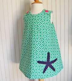 Starfish Jumper Green Dress Sizes 2T 3 6 only by thetrendytot, $52.00 #easter