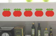 """5er-Set  Apfel-Wandaufkleber """"Zwo"""" von Emmas Zimmer auf DaWanda.com"""