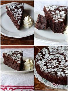 Jedes Blog hat seinen Schokoladenkuchen. Meines auch.   Für mich ist das Thema Schokoladenkuchen abgehackt, seit ich den vom Café P. (N...