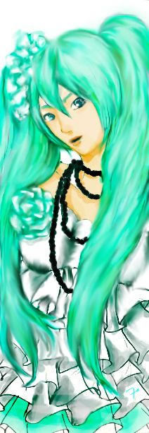 vocaloid Camellia version Hatsune miku flower artwork by #7oi