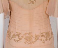 1930-е годы на одежду Vintage текстиля: # 2820 чай платье
