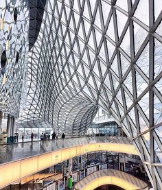the myzeil shopping mall in frankfurt designed by studio fuksas. the arcade was completed and opened in 2009. . . . photo by @draft_of_mine more #architecture online on #designboom  @fuksas_architects @dorianafuksas #fuksasarchitects