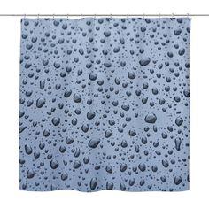 Drops Of Rain Water Shower Curtain