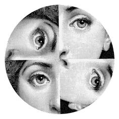 This Tema e Variazioni wall plate is a truly unique piece of art from the world famous Fornasetti brand. Beautifully crafted from porcelain it depicts the face of Piero Fornasetti's favourite muse,...