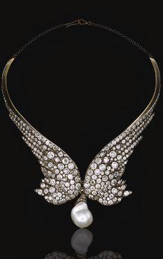 {Daily Jewel} Diamond Necklace of Gorgeous, circa 1860