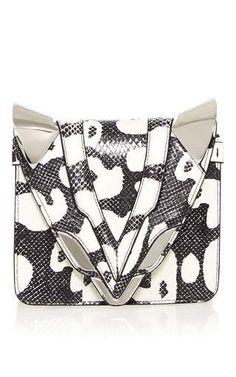 Small Luli P Flap Bag in Printed Water snake by Elena Ghisellini for Preorder on Moda Operandi