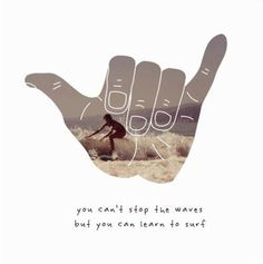 'You can't stop the waves, but you can learn to surf'