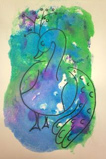 Art With Mr. E: Peacock-A-Palooza Part 1 : Mixed Media Workshop
