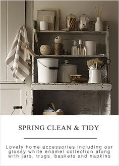Find the perfect laundry basket for your bathroom at The White Company. Shop our full range of laundry & storage items including baskets, caddies, drawers & bins. Cosy Kitchen, Country Kitchen, Kitchen Dining, Interior Exterior, Interior Design, Country Style Homes, Country Life, Vintage Cabin, Vintage Laundry