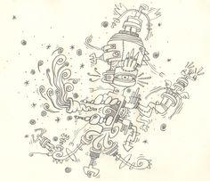 Ma-chi-cazz-so'-e-daddove-veng?, il problematico e tentacolare Signore delle Pugnette Tardoadolescenziali, esegue la rituale fumata propiziatoria prima di diffondere nel cosmo l'ennesimo ed inutile dilemma del cazzo