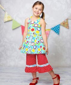 Loving this Sunshine Susan Tank & Ruffle Pants - Infant, Toddler & Girls on #zulily! #zulilyfinds
