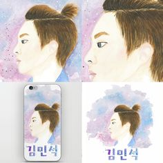 #exo #xiumin #watercolor #minseok  https://society6.com/product/kim-minseok_print#1=45
