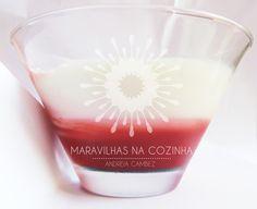 Maravilhas na Cozinha - Andreia Cambez: Panna Cotta com gelatina de chá de rooibos com frutos do bosque