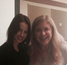 Rachel Nichols of Continuum poses with interviewer and panelist, Lee Callahan, at Emerald City Comic Con (via @callahanlee on Twitter)