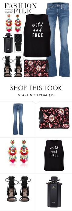 """""""70s inspired - modern version   outfit inspiration  """" by anja-jovanovich ❤ liked on Polyvore featuring True Religion, Loeffler Randall, Ranjana Khan, Miss Selfridge, Zimmermann, Gucci and modern"""