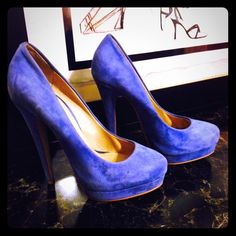 Periwinkle suede heels Gorgeous periwinkle blue heels from Aldo. Can be paired with a white summer dress or white jeans a cream colored blouse and a jean jacket. This color is very popular right now. ALDO Shoes Heels