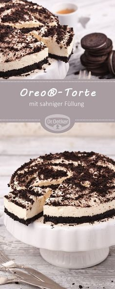 cake - For all Oreo® fans a delicious combination of crispy . - Desserts -Oreo® cake - For all Oreo® fans a delicious combination of crispy . Cupcake Recipes, Pie Recipes, Baking Recipes, Cookie Recipes, Dessert Recipes, Delicious Desserts, Oreo Desserts, Health Desserts, Torte Cake
