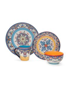 16pc Zanzibar Dinnerware Set - Home - T.J.Maxx