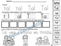 Palabras de alta frecuencia para Kindergarten y Primer grado que comienzan con ta te ti to tu como : tu, ti, te, tal, tan, tus, tenia, tengo, y tres.   Kindergarten Sight Words in Spanish.