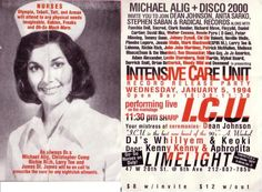 """Disco 2000 - Club Kids flyer the Limelight was a very popular club, it was in a church, not the first to do that, anyone old enough to remember """"sanctuary"""", i'm in a crowd scene there in the movie Klute."""